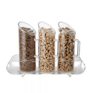 1.0L x 3 Acrylic Cereal Dispenser-CD800-3