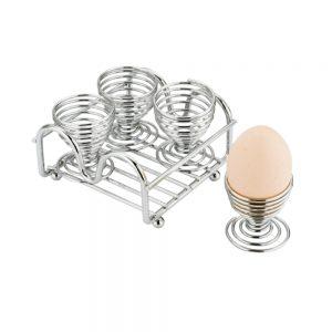 Chrome Plated Wireware 4-Piece Egg Cup Set-MWI63EG