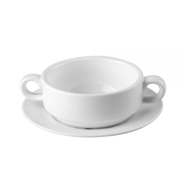 Porcelain Soup Cup with Handles 250ml 9fl.oz-C88045