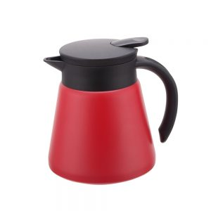 0.6L Mini Stainless Steel Vacuum Jug with Red Body-CCP060R-UW