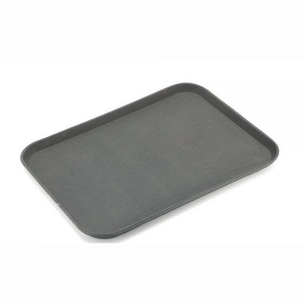 Rubber Surface and Fibreglass Bottom Non-Slip Tray 45cmx65cm18inchx26inch, Rectangular (Brown)-MFE1826BR-UK (1)