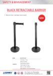 STK2020-01-0049 Black retractable barrier-Flyer