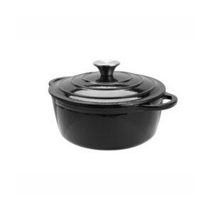 Cast Iron Round Casserole, 20cm (Black)-MCA20K